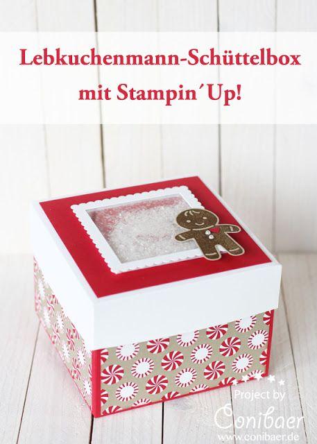 Eine Lebkuchenmann-Schachtel