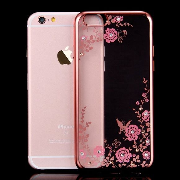 iPhone 6/6S Case Brand new iPhone 6/6S cute and fun clear/rose pink flower case!! No box! Accessories Phone Cases