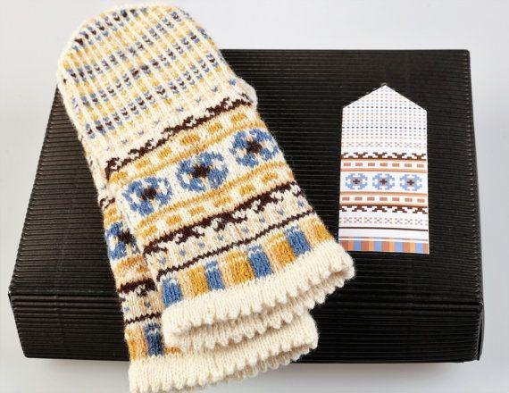 Latvian Mitten DIY Knitting Kit Knit like a Latvian KURZEME Autumn Leaves collection