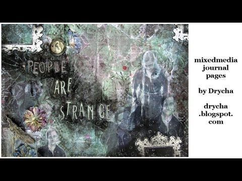 ExtravOrganza in artjournal pages * tutorial * Scraps of Darkness Kit