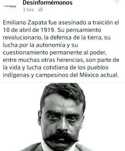 """""""El caudillo del sur"""" Mi General Emiliano Zapata."""