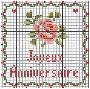 rose Happy Anniversary#cross-stitch #chart