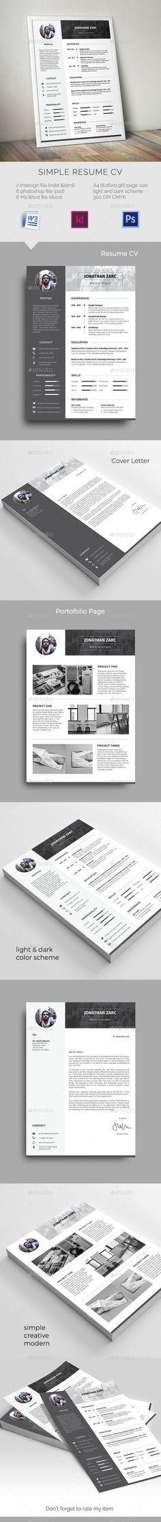 simple cover letter%0A Resume  cover letter  brag book  Sleek design