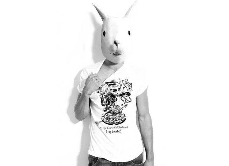 Be #unconventional...Follow him! #tshirt #whiterabbit #wonderland