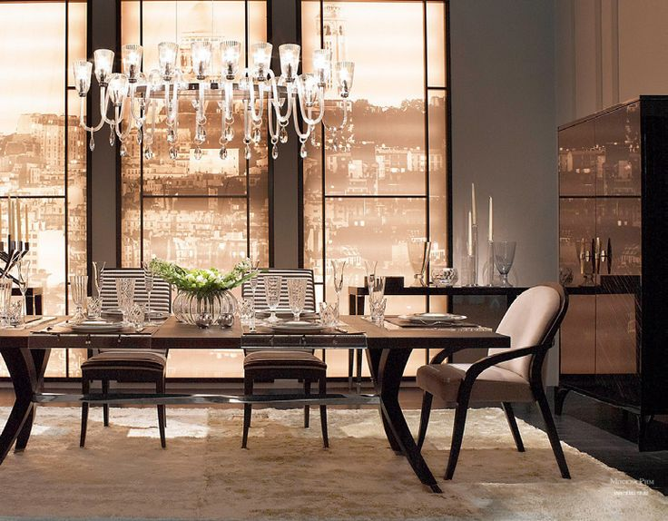 An Elegant And Luxury Dining Room By Fendi Casa.