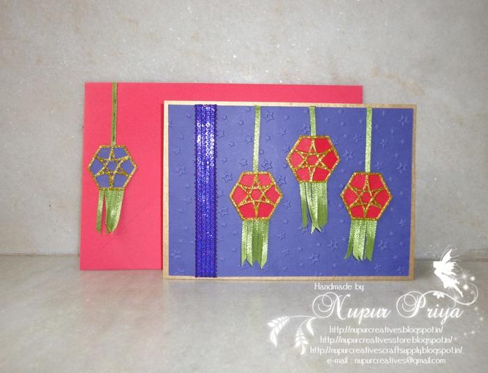 Card Making Ideas For Diwali Part - 26: Diwali Card - Indian Craft Room
