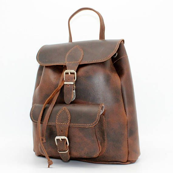 Brown leather   laptop bagbrown small  leather backpack