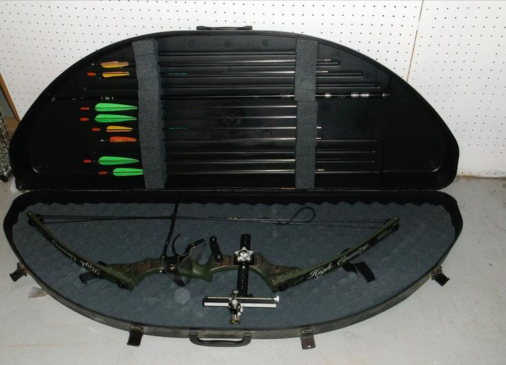 High Country Left Handed AVENGER Compound Bow CHEK-IT Sights Bow Guard Hardcase