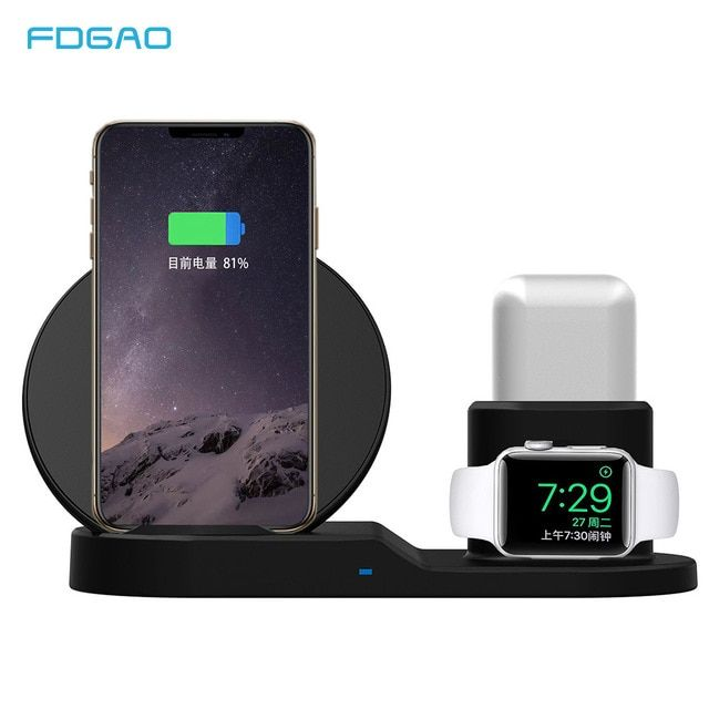 FDGAO 10W Fast Charging Qi Wireless Charger for Apple Watch