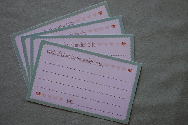 Haiti Babi | FREE Download: Baby Shower Advice Cards