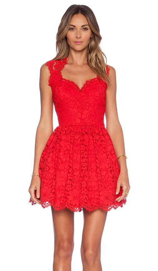 little red lace dress #holidaystyle