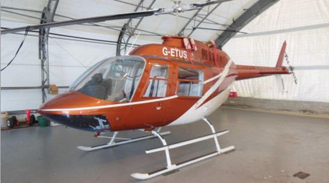 You have to view our carefully maintained Corporate VIP Bell 206B JetRanger available for immediate sale. Striking metallic orange paint scheme installed with a luxury interior