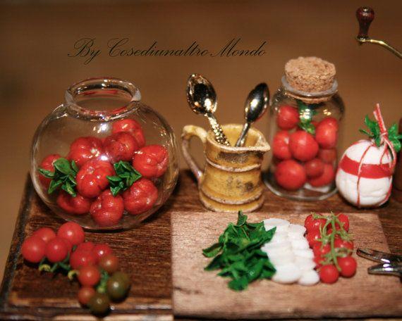 """Кукольная миниатюра """"миску с помидорами """"-ремесленник ручной работы миниатюрный в 12-м масштабе. Из CosediunaltroMondo"""