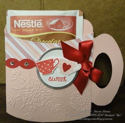 Mug Card  Stamp Sets: So Very, Tiny Teacup  (Free Template)   By:Stampin' & Scrappin' with Stasia: