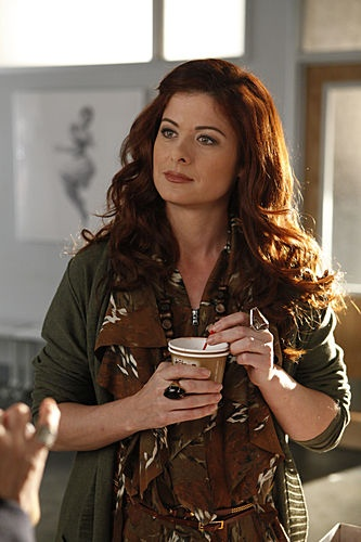 "Debra Messing (Julia) in Smash (2012) S01E05 ""Let's Be Bad"" Yeah… not sorry for this. Debra Messing-hair is my inspiration for life:)"