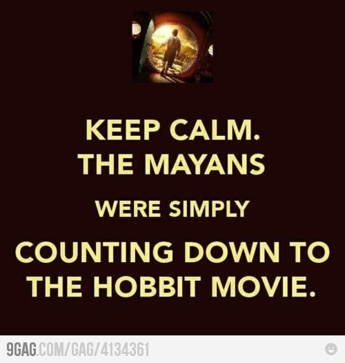 Hobbit!!!!!!!December, Tolkien, Cant Wait, Funny Pictures, Keep Calm Posters, The Hobbit, Keepcalm, True Stories, Thehobbit