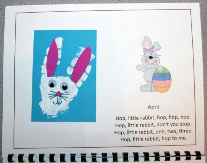April Handprint Calendar : Best handprint and footprint calendar images on