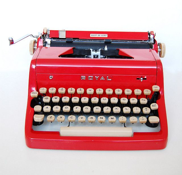 {type type type} My Granny has one of these. It is so cute to see her plunk on it... so dainty! I used to fall asleep to the sound of it when she was preparing for her sermon for Sunday mornings. Love you!