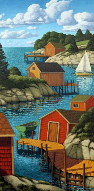 <b>The Cove</b><br>2008<br>oil on canvas<br>48 x 24 inches
