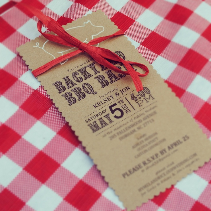 a sweet and simple barbecue invitation couples shower