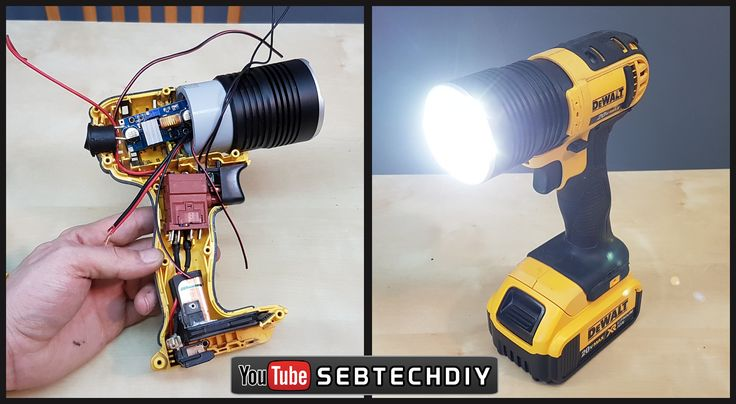 DIY custom made super bright led flashlight. Click to watch on youtube. #dewalt #diy #superbright #led #flashlight #construction #tough #diyprojects #howto