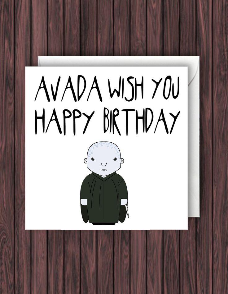Avada. Harry Potter Birthday Card. Birthday Card. Funny Greetings Card. Geek Blank Card. by TheDandyLionDesigns on Etsy https://www.etsy.com/listing/250635613/avada-harry-potter-birthday-card