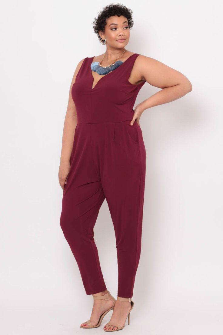 #curvysense #drape #draped #burgundy #jumpsuit #comfy #style #stylish #plus #size #shop #retail #clothes
