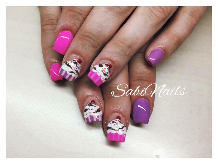 #SabiNails #Nails #Spring #Gel #CupCakes