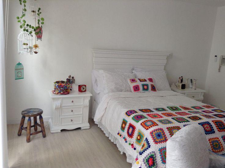 Crochet cubrelecho elaborado por Guela Mainieri