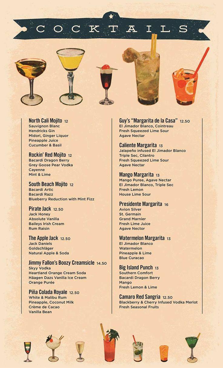 cocktail menus - Google Search