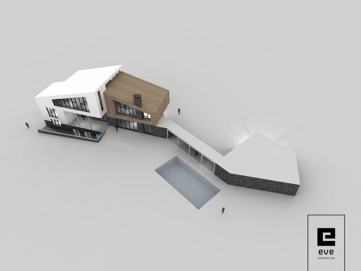 Inspiratie schets moderne villa_EVE Architecten 7