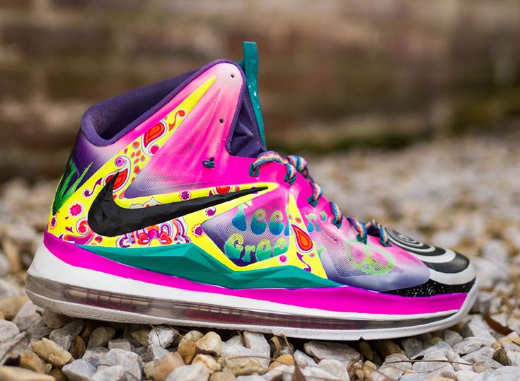 """Nike LeBron 10 """"What the 60s"""" by District Customs"""