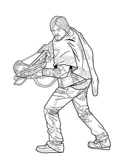 daryl dixon coloring pages - photo#3