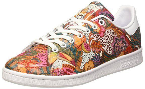 adidas Stan Smith, Entrenadores Bajos para Mujer, Multicolor (Footwear White/Footwear White/Off White), 36 EU
