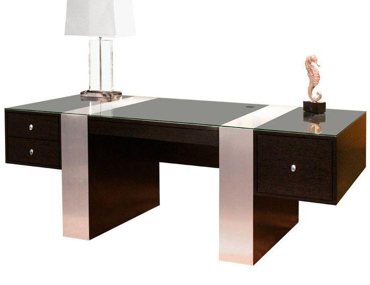 contemporary office desks. plain desks premium modern executive desk in wenge u0026 brushed aluminum laminate in contemporary office desks