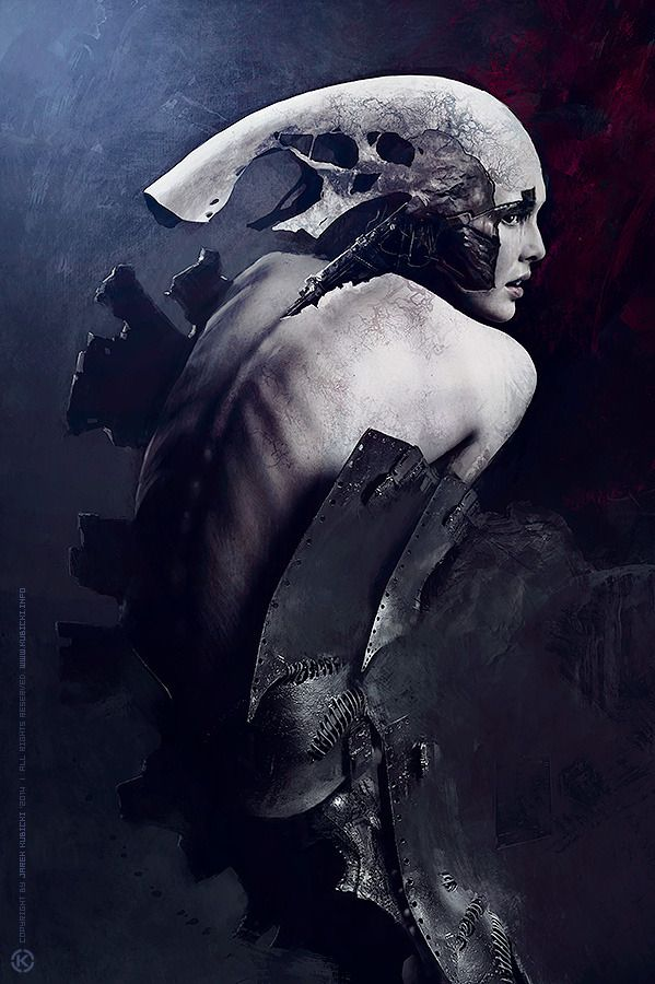 "jarekkubicki: ""60619 [2014] © Jarek Kubicki '2014 Photography, photomanipulation, acrylics, ink, digital painting. Costume design by Katarzyna Konieczka Support: Kala Wyroslak - Make Up Artist and..."