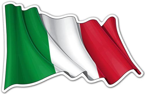 Pegatinas: Bandera de Italia ondeando #bandera #pegatina #TeleAdhesivo