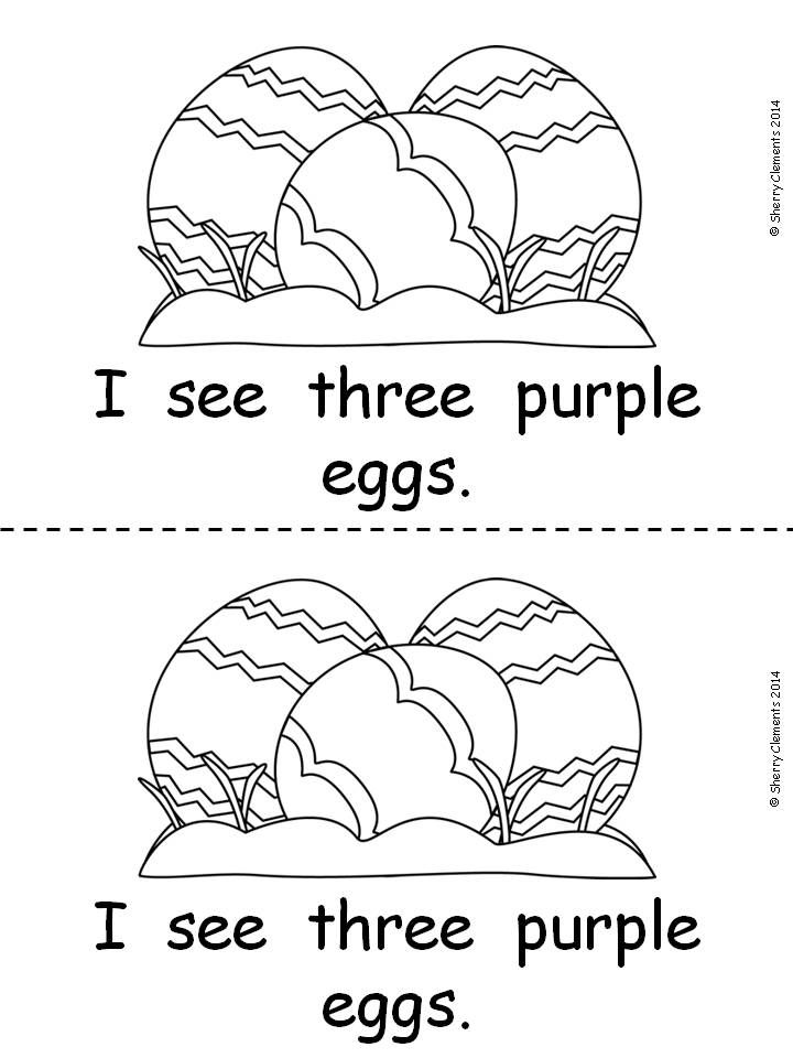 Kindergarten Reading: Emergent Reader: Easter Eggs (sight words: I, see, color words, and number words) - Cute reader your students will LOVE it! $