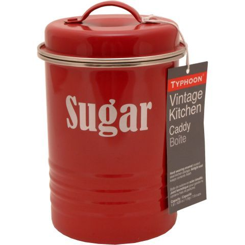 Typhoon Direct Vintage Kitchen Sugar Canister in Red – Next Day Delivery Typhoon Direct Vintage Kitchen Sugar Canister in Red from WorldStores: Everything For The Home