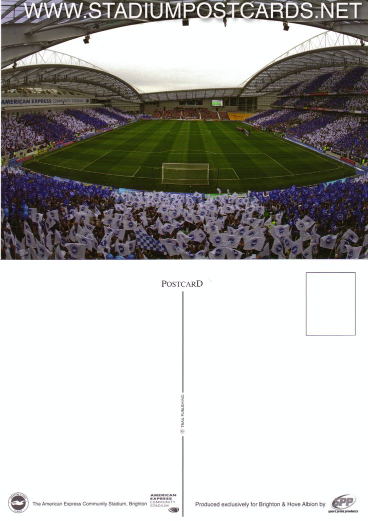 € 1,50 - code : GBR-003 - Brighton - Amex Arena - stadium postcard cartolina stadio carte stade estadio tarjeta postal