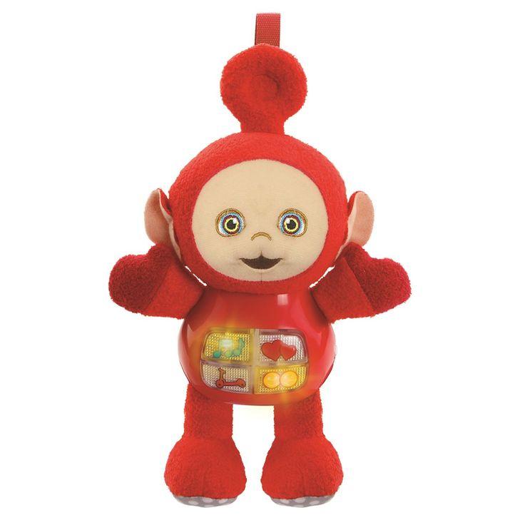 Teletubbie Po laat je kennismaken met voorwerpen en muziek én wil dolgraag met jou spelen en knuffelen! Druk op de knipperende toetsen om vrolijke zinnetjes, geluiden en melodietjes tehoren. Het riempje met klittenband zorgt ervoor dat je Po eenvoudig overal mee naartoe kunt nemen. Met de originele stem van Teletubbie Po.- Speel en knuffel met Po!- Teletubbie Po laat je kennismaken met voorwerpen en muziek.- Druk op de 4 knipperende toetsen om vrolijke zinnetjes, geluiden en melodietjes te…