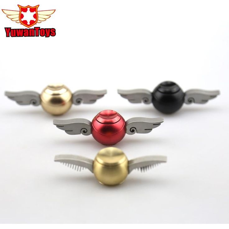 Fidget spinner harry potter golden snitch metal toy with