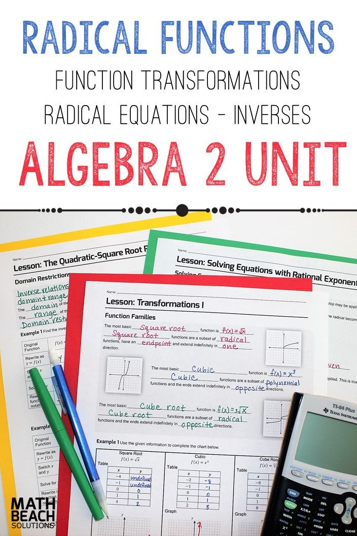 The Radical Equations And Relationships Unit 8 Includes Notes Practice Reviews