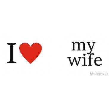 Nálepky na svadobné topánky - I love my wife  273ce9809cd