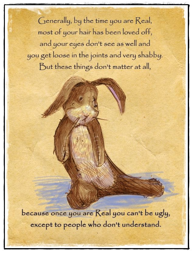 'The Velveteen Rabbit',   by Margery Williams  One of my all time favorites!