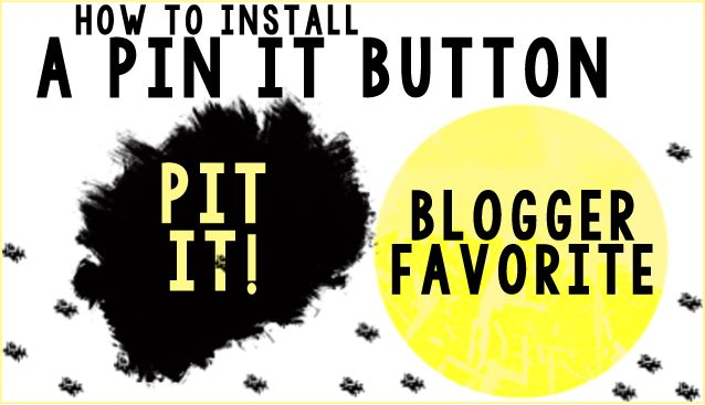 how to add a pinterest button to blogger