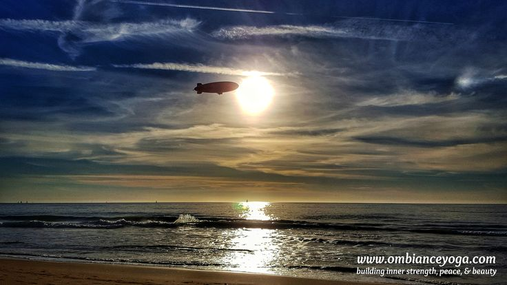 Perfect evenings. Sailboats, sunsets...and the Goodyear blimp? Hermosa Beach, California | travel | yoga | mediation | OMbiance Yoga | destination | getaway