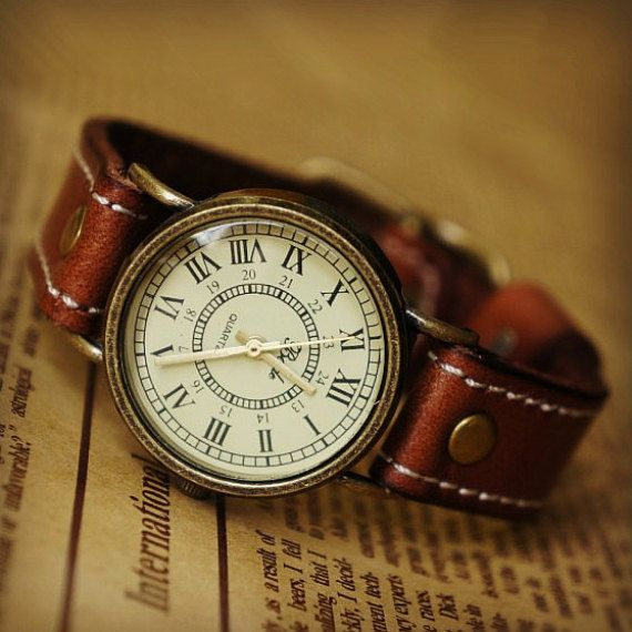 Hey, I found this really awesome Etsy listing at http://www.etsy.com/listing/155080728/leather-women-watch