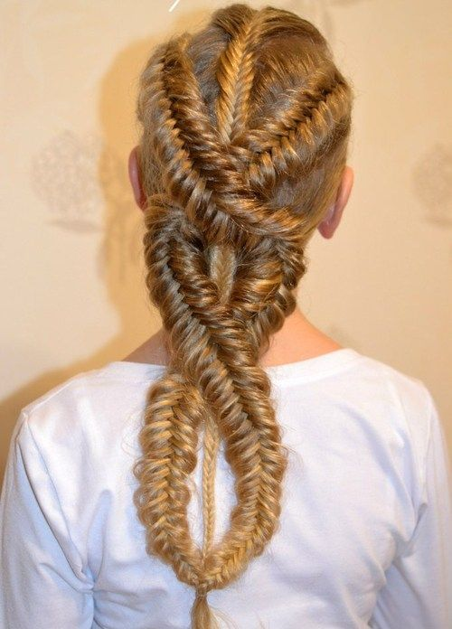 fishtail intricate style that looks like it would take forever but looks easy enough