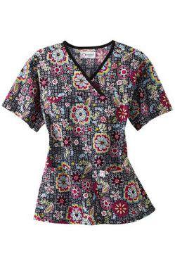 Dickies EDS Peace Offering print scrub top. - Scrubs and Beyond #scrubs #uniforms #nurse